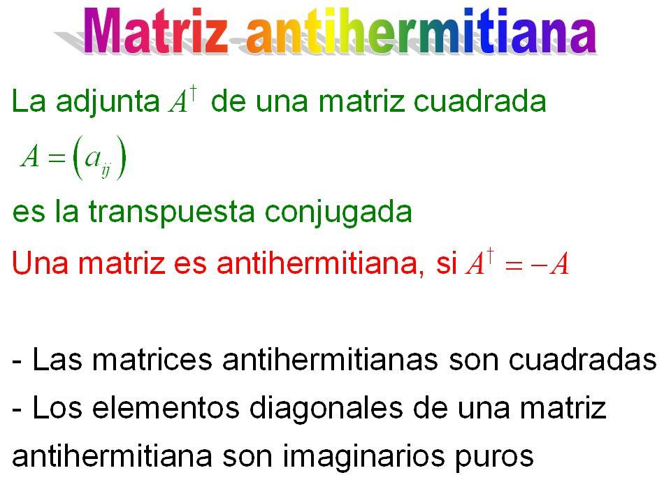 Matriz antihermitiana