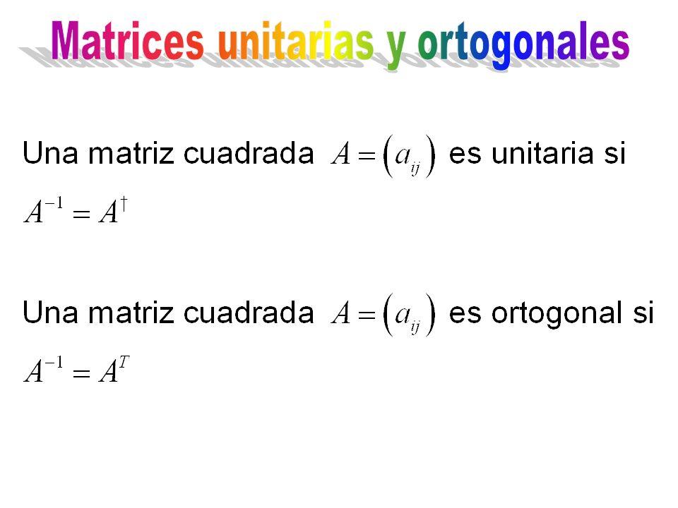 Matrices unitarias y ortogonales