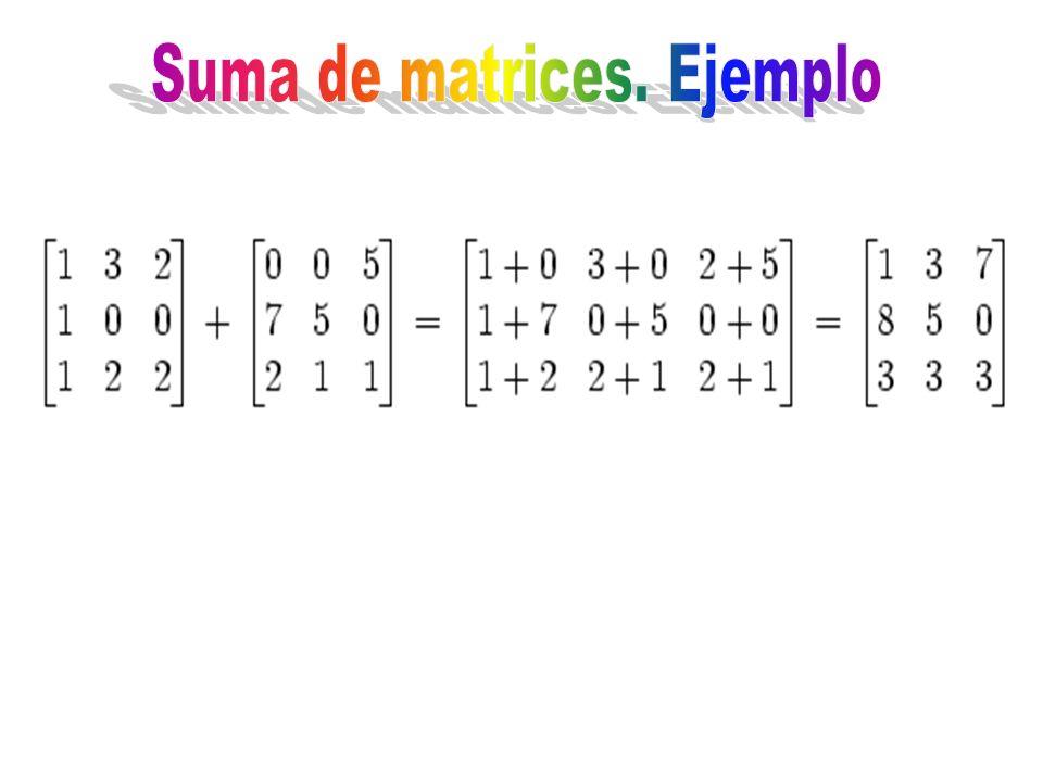 Suma de matrices. Ejemplo