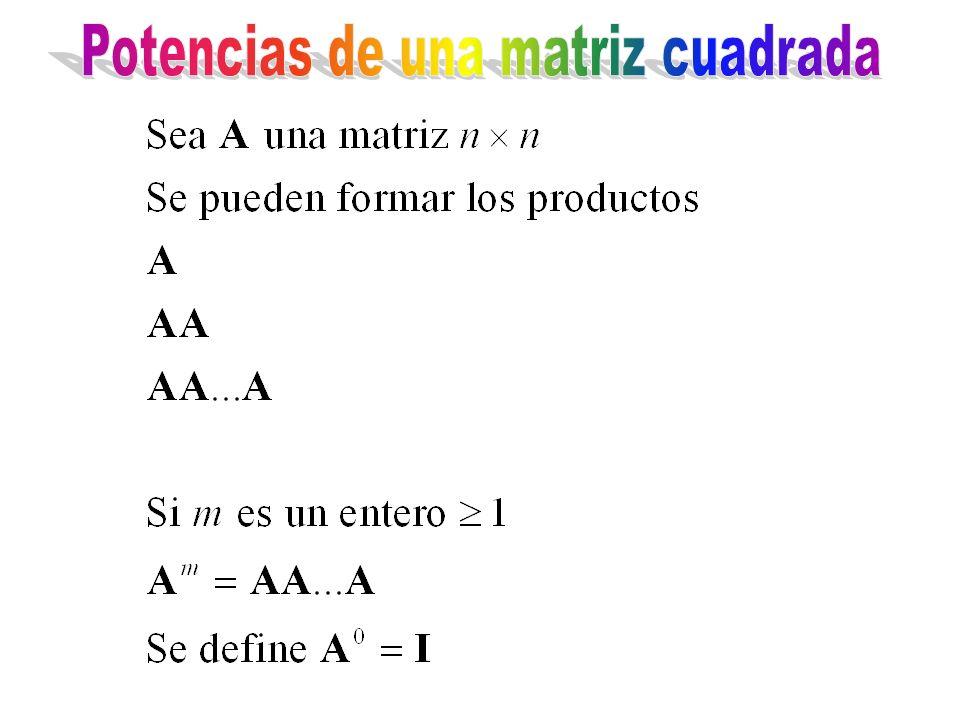 Potencias de una matriz cuadrada