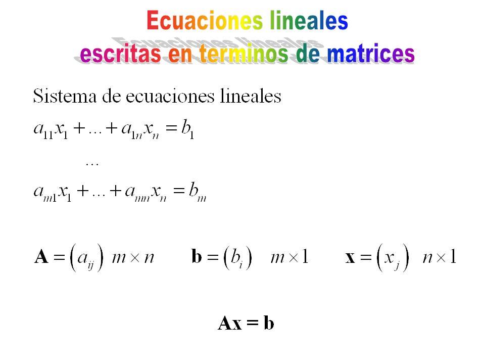 escritas en terminos de matrices