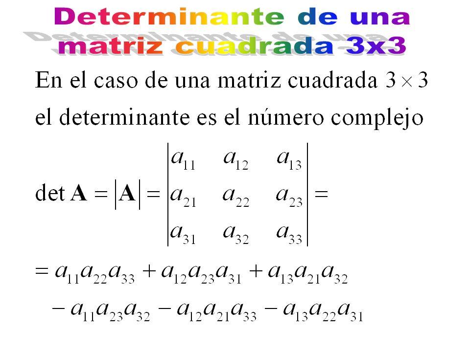 Determinante de una matriz cuadrada 3x3