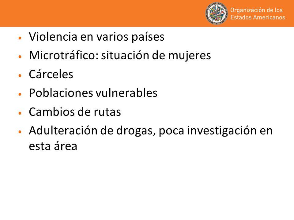 Violencia en varios países