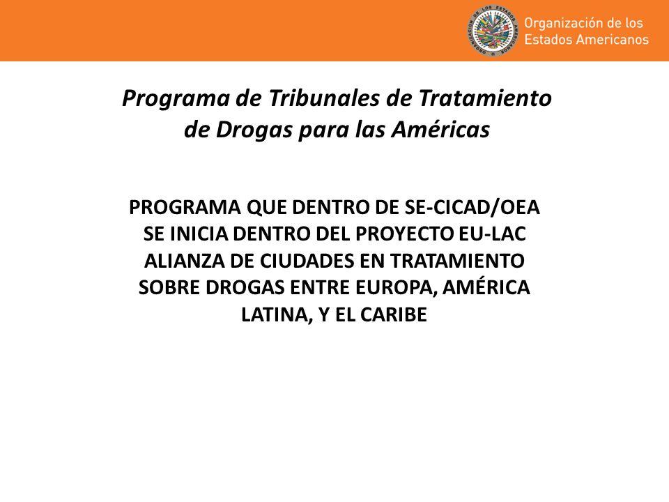 Programa de Tribunales de Tratamiento de Drogas para las Américas