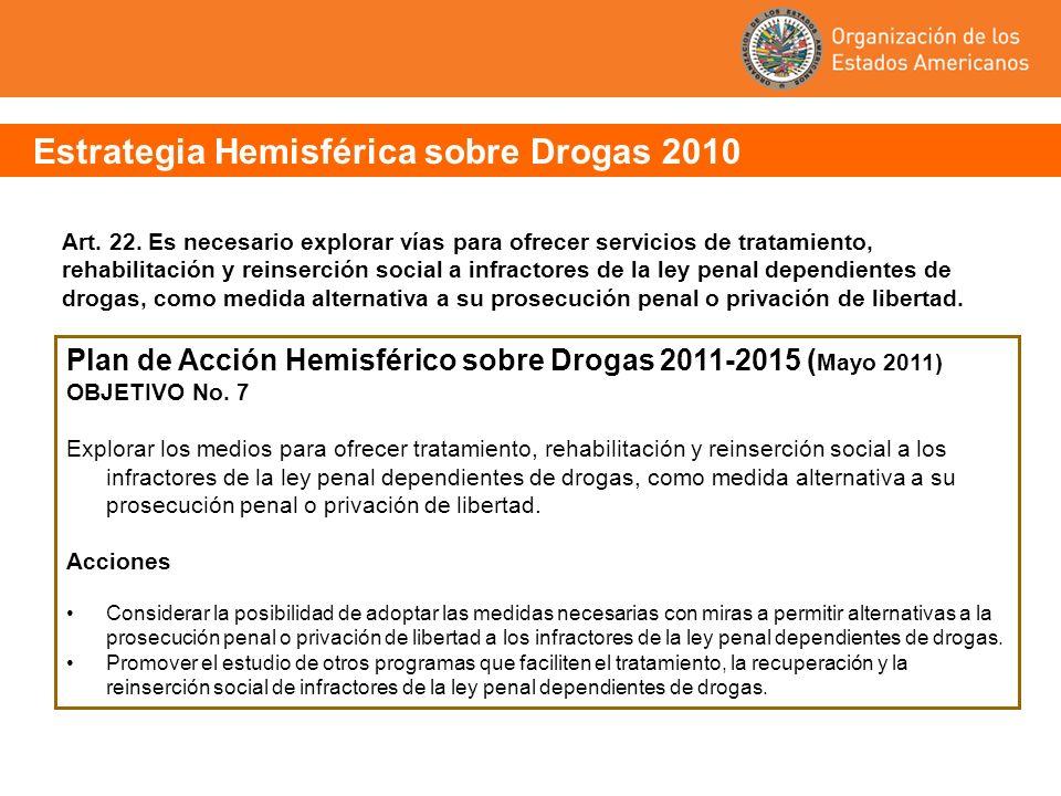 Plan de Acción Hemisférico sobre Drogas 2011-2015 (Mayo 2011)