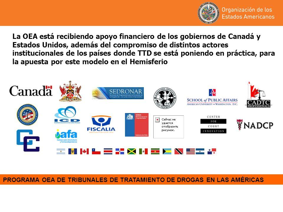 La OEA está recibiendo apoyo financiero de los gobiernos de Canadá y Estados Unidos, además del compromiso de distintos actores institucionales de los países donde TTD se está poniendo en práctica, para la apuesta por este modelo en el Hemisferio