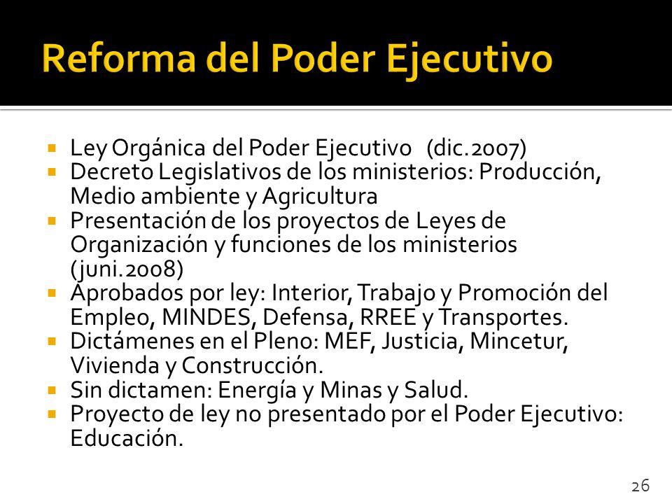 Reforma del estado v a la descentralizaci n en el per for Donde queda el ministerio de interior y justicia