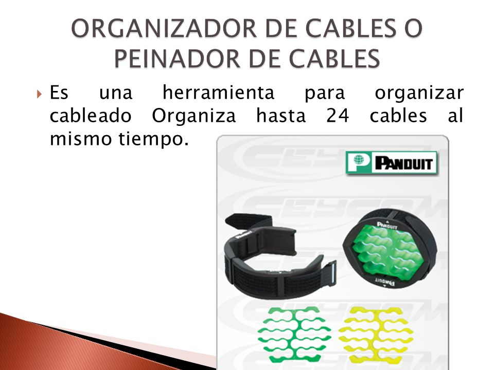 ORGANIZADOR DE CABLES O PEINADOR DE CABLES