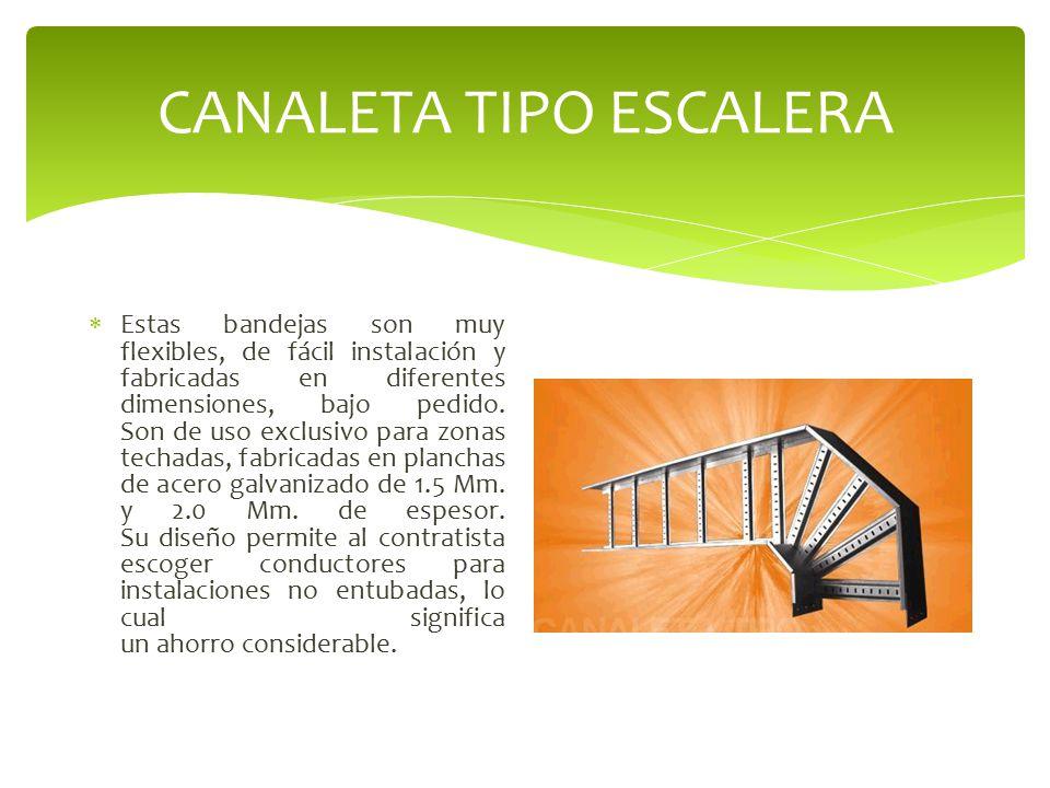 CANALETA TIPO ESCALERA