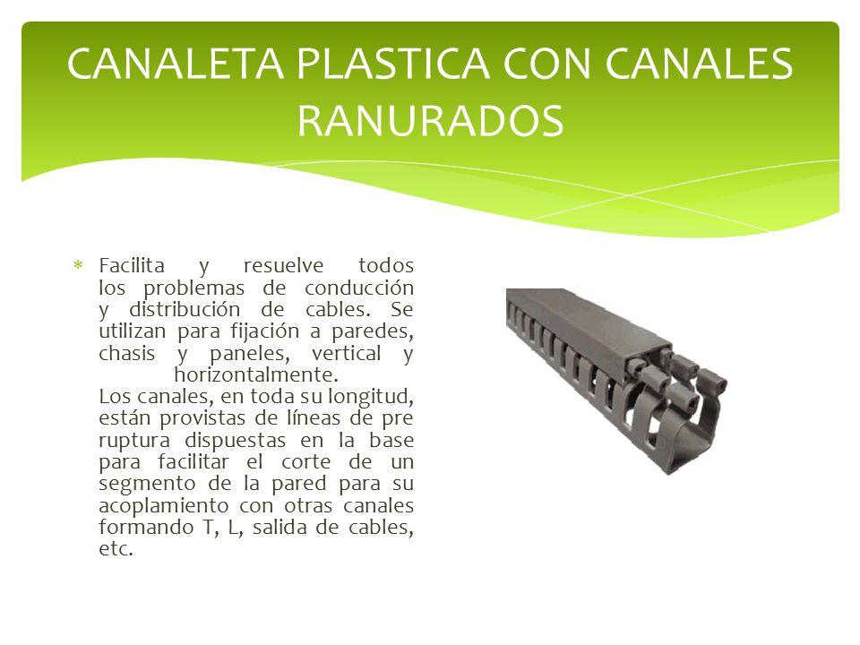 CANALETA PLASTICA CON CANALES RANURADOS