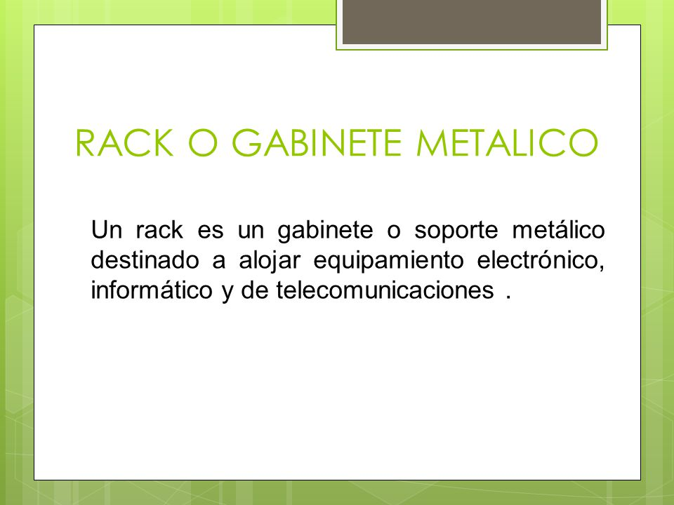 RACK O GABINETE METALICO