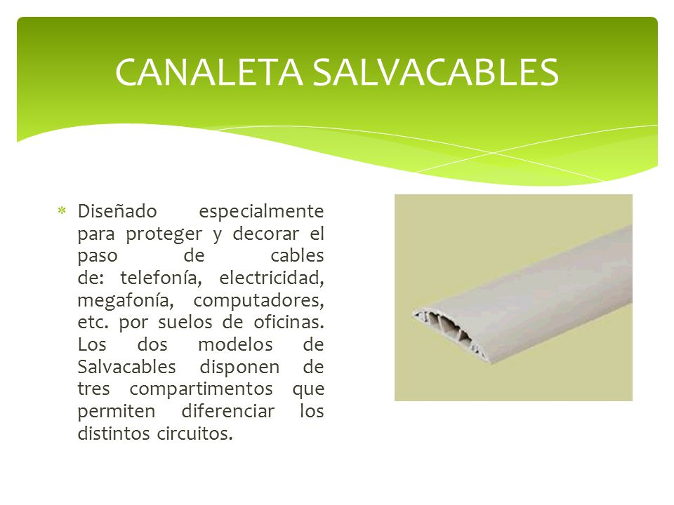 CANALETA SALVACABLES