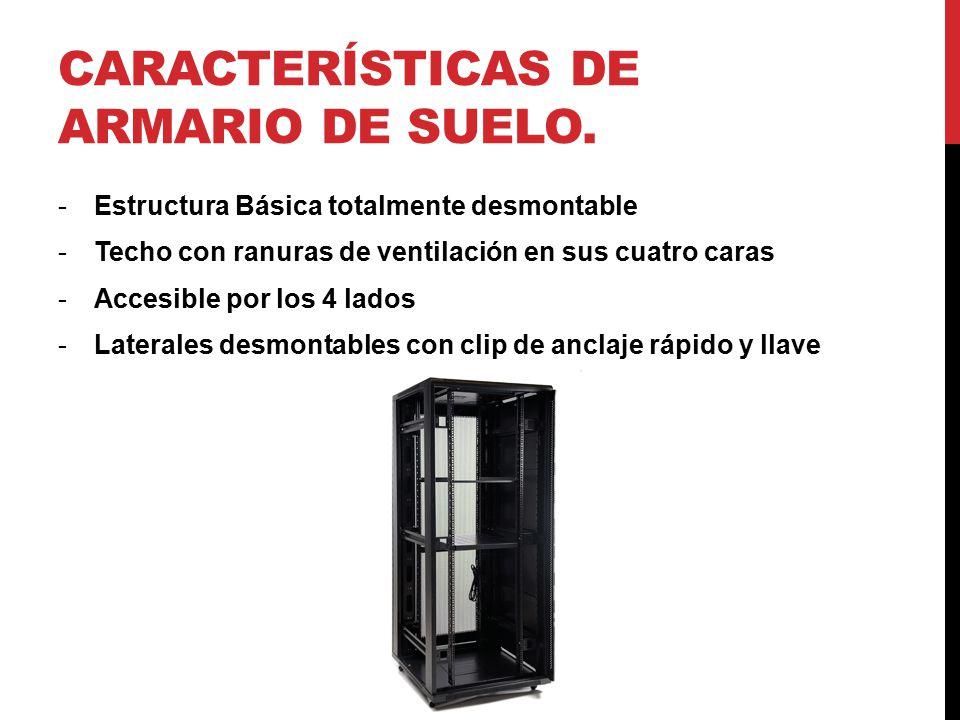 Características de armario de suelo.