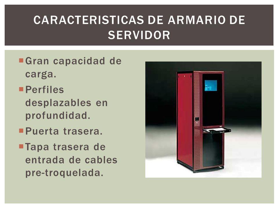 CARACTERISTICAS DE ARMARIO DE SERVIDOR