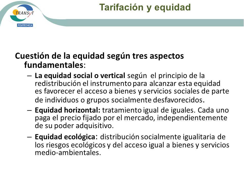 Cuestión de la equidad según tres aspectos fundamentales: