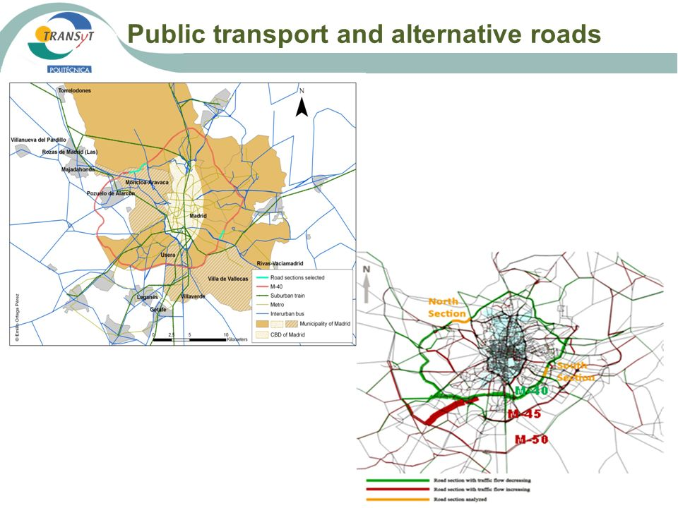 Public transport and alternative roads