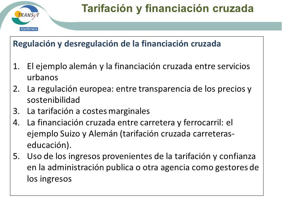 Tarifación y financiación cruzada