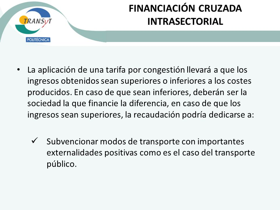 FINANCIACIÓN CRUZADA INTRASECTORIAL