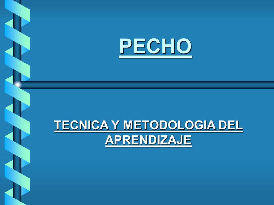TECNICA Y METODOLOGIA DEL APRENDIZAJE