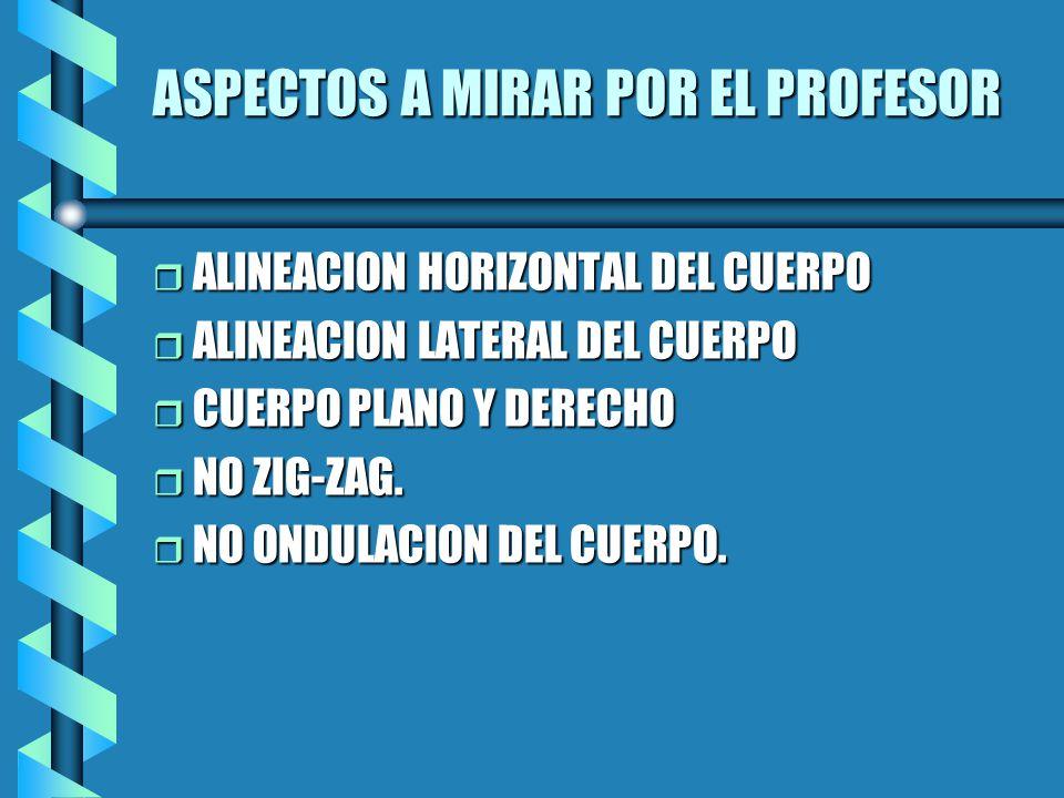 ASPECTOS A MIRAR POR EL PROFESOR