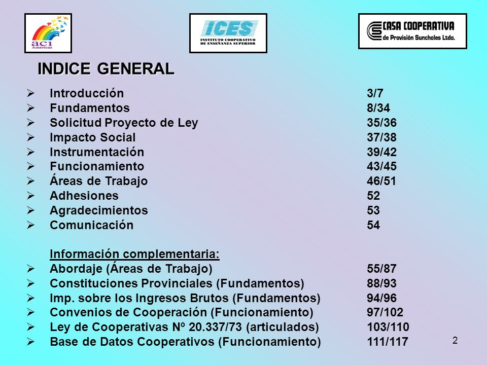 INDICE GENERAL Introducción 3/7 Fundamentos 8/34