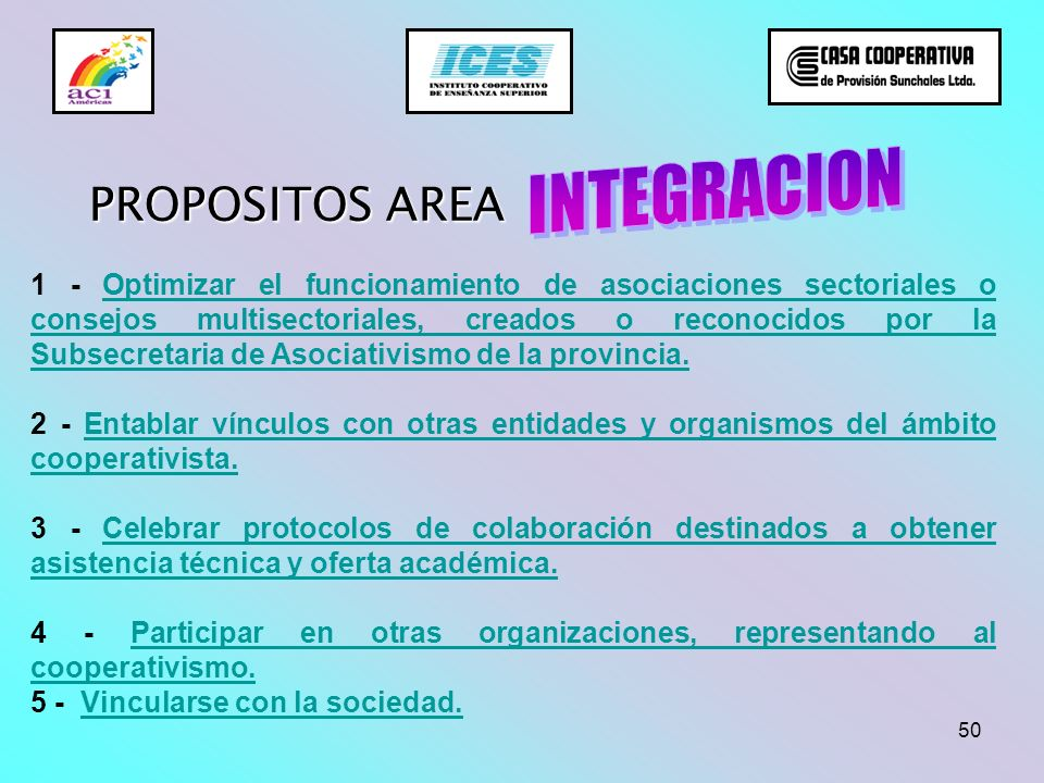 INTEGRACION PROPOSITOS AREA