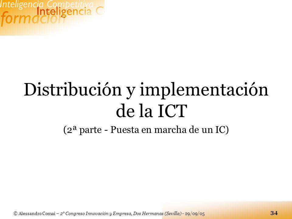 Distribución y implementación de la ICT