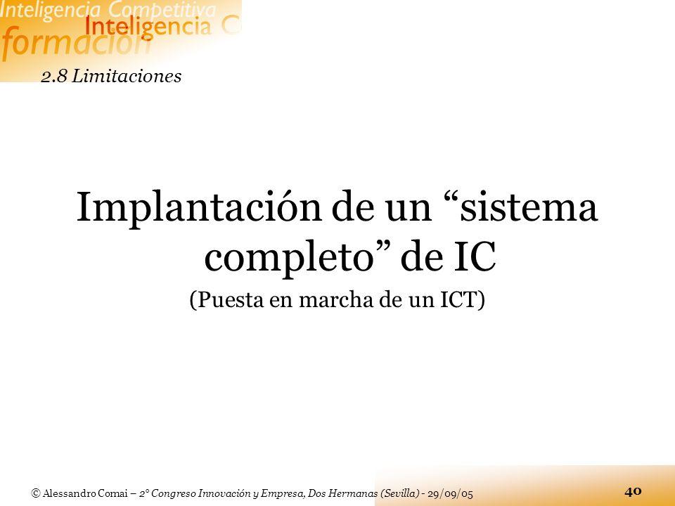 Implantación de un sistema completo de IC