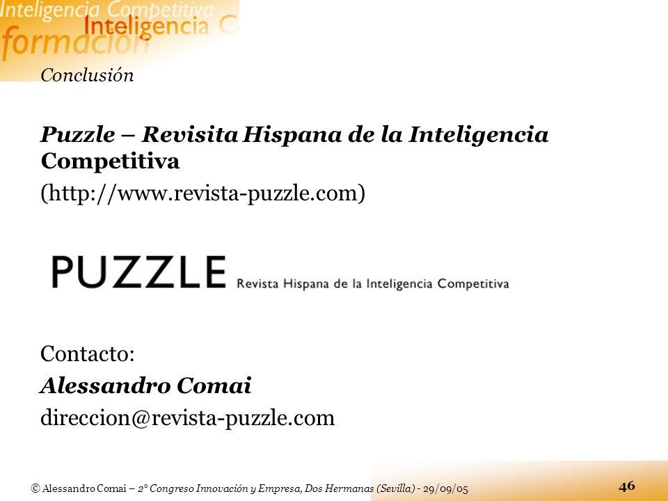 Puzzle – Revisita Hispana de la Inteligencia Competitiva