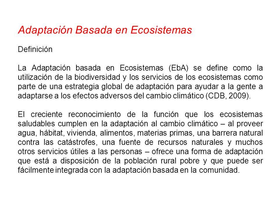 Adaptación Basada en Ecosistemas