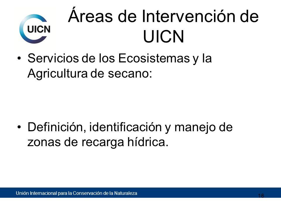 Áreas de Intervención de UICN