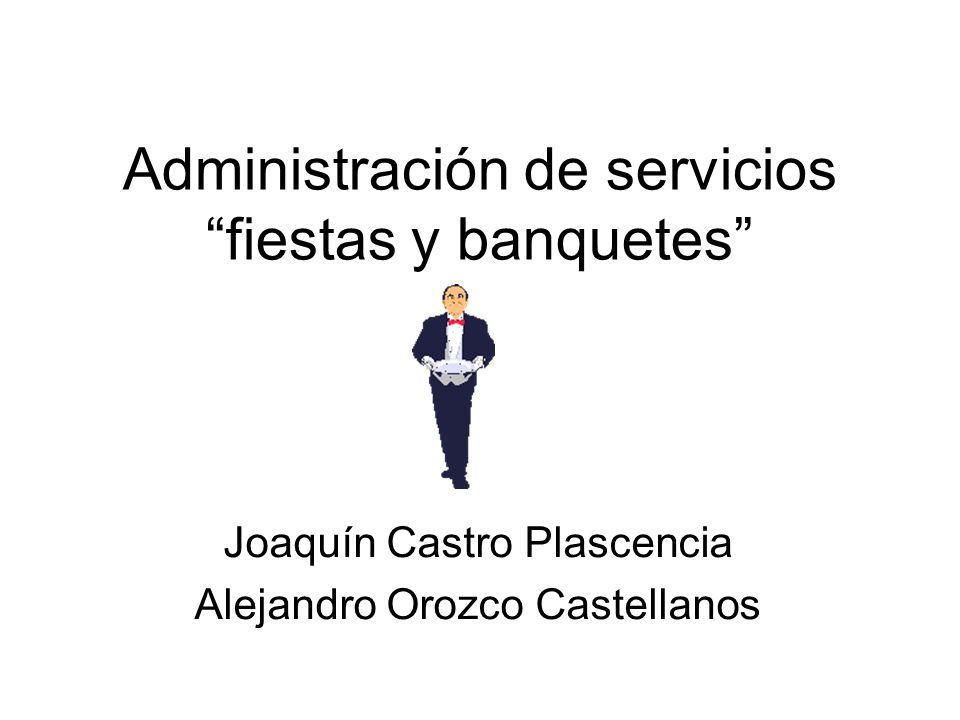 Administración de servicios fiestas y banquetes