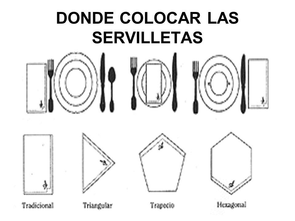 DONDE COLOCAR LAS SERVILLETAS