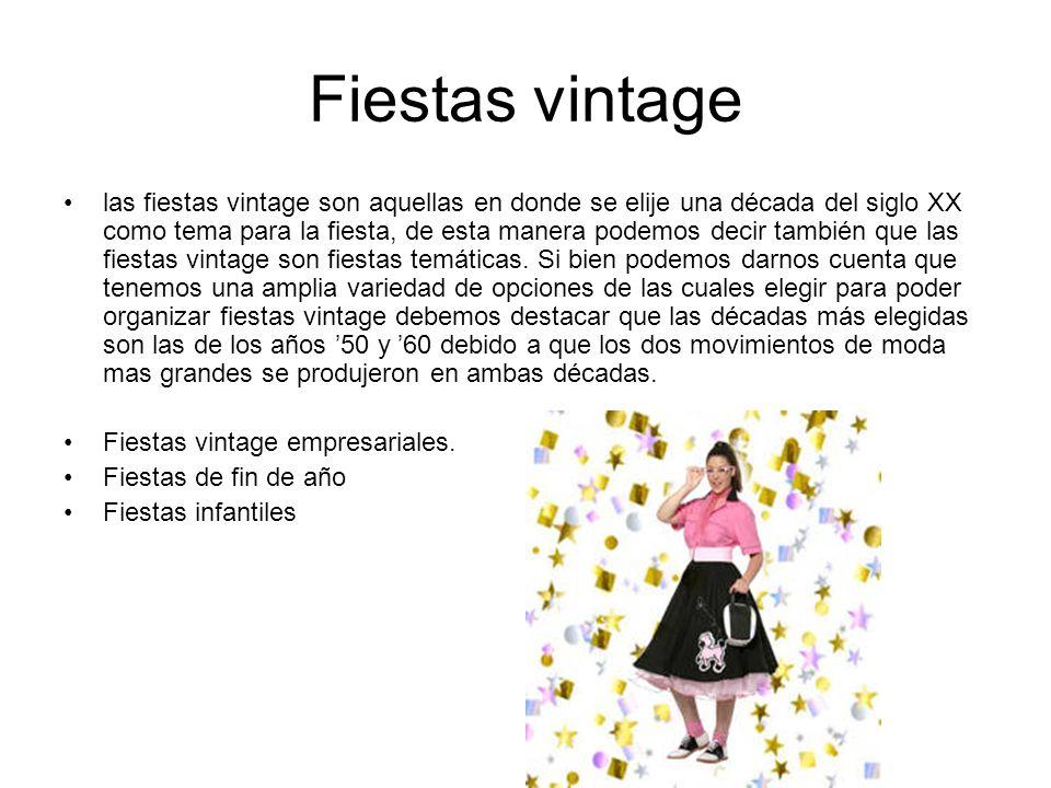 Fiestas vintage