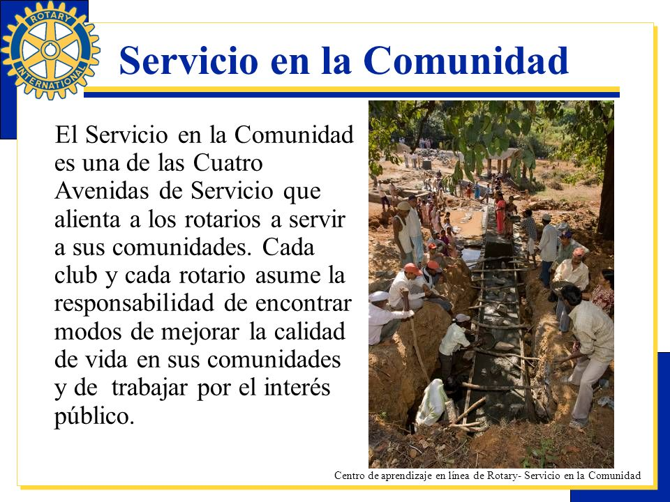 Servicio en la Comunidad