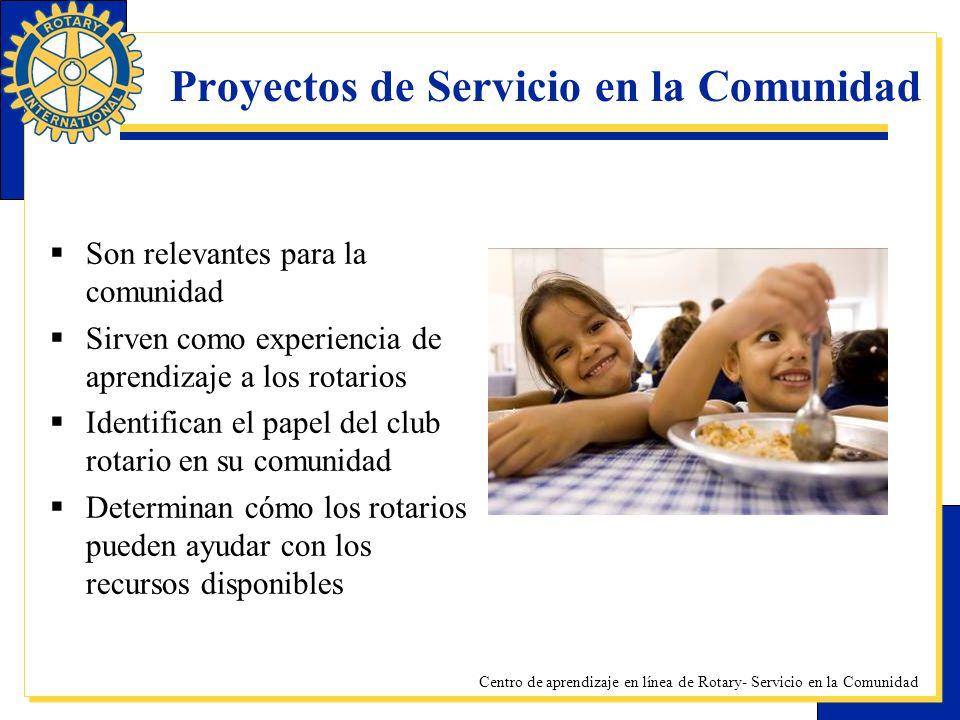 Proyectos de Servicio en la Comunidad