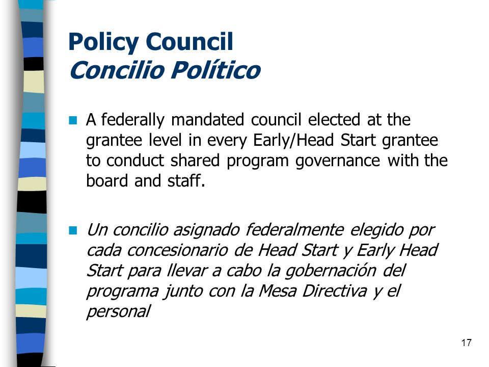 Policy Council Concilio Político