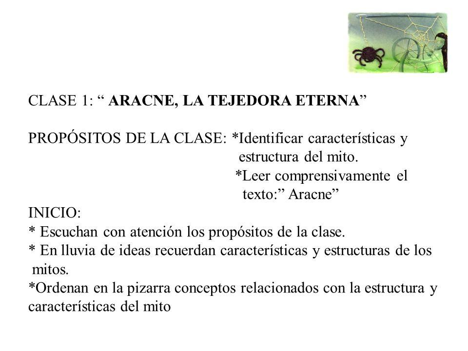CLASE 1: ARACNE, LA TEJEDORA ETERNA