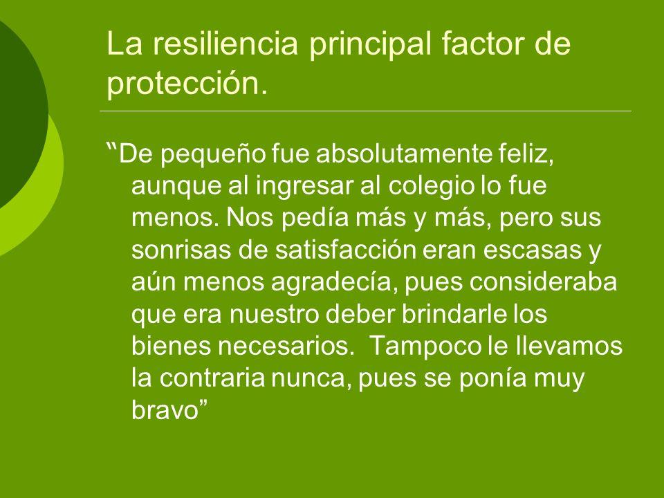 La resiliencia principal factor de protección.