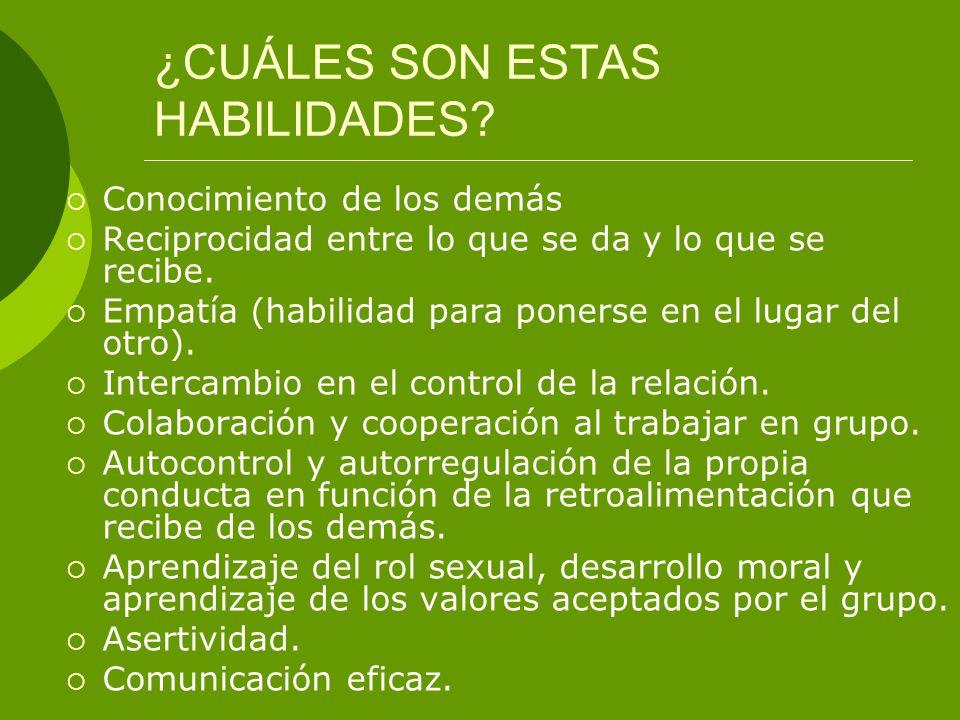 ¿CUÁLES SON ESTAS HABILIDADES