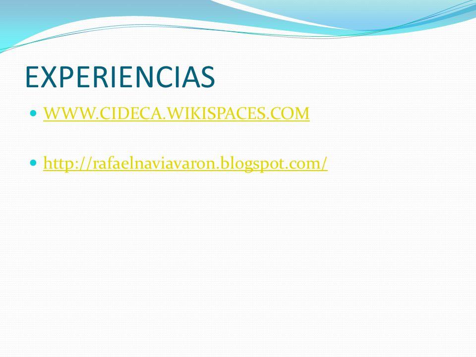 EXPERIENCIAS WWW.CIDECA.WIKISPACES.COM