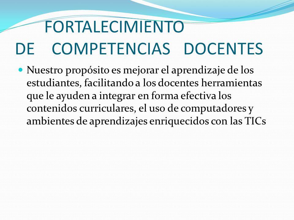 FORTALECIMIENTO DE COMPETENCIAS DOCENTES