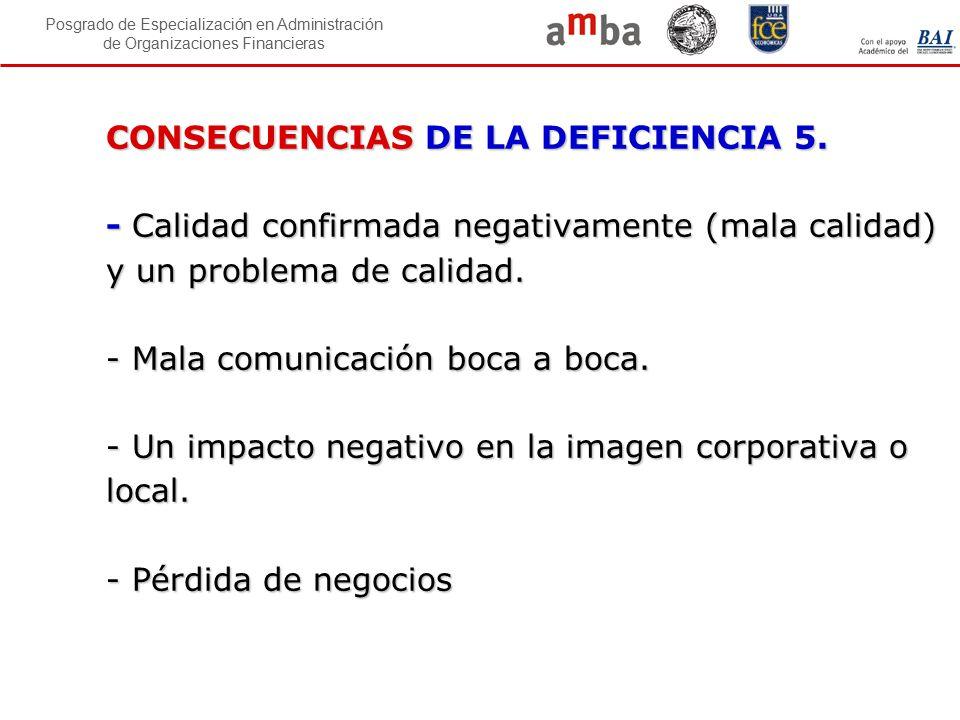 CONSECUENCIAS DE LA DEFICIENCIA 5