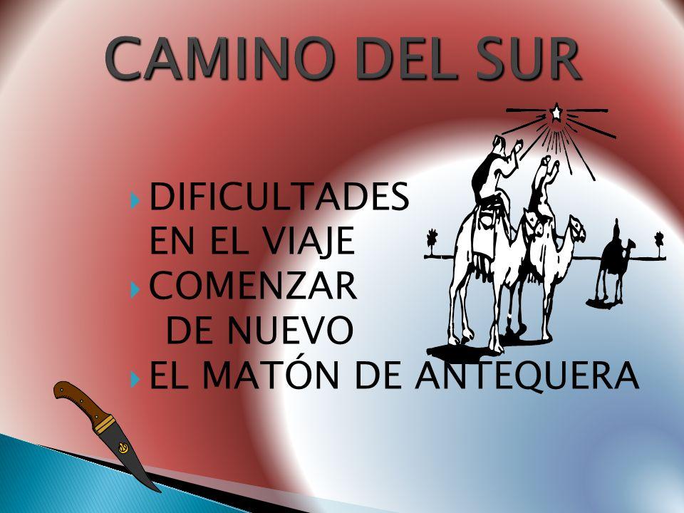 CAMINO DEL SUR DIFICULTADES EN EL VIAJE COMENZAR DE NUEVO