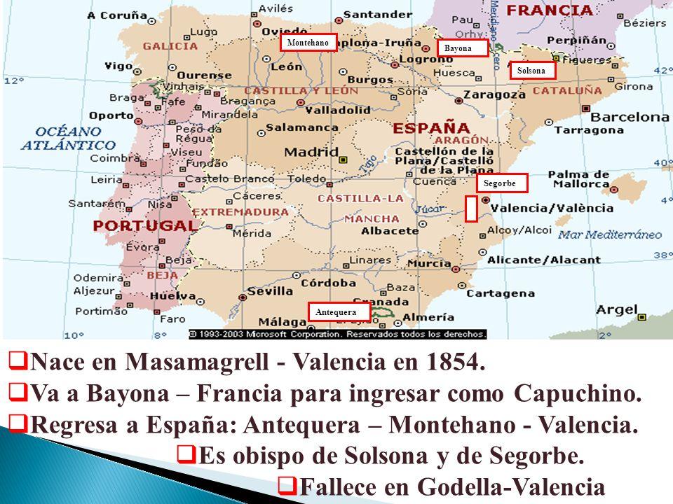 Nace en Masamagrell - Valencia en 1854.