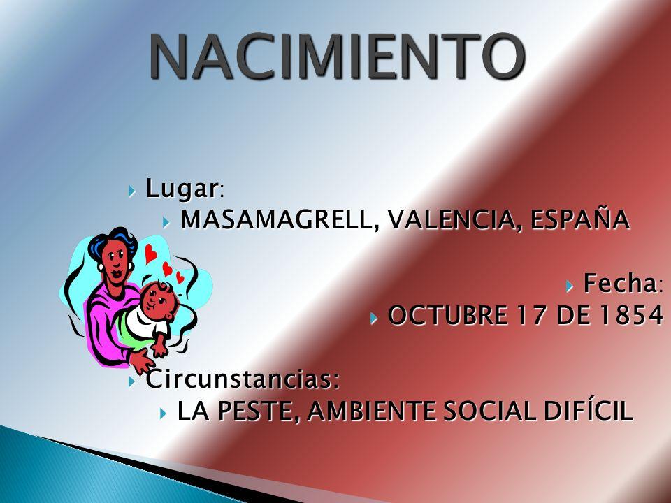 MASAMAGRELL, VALENCIA, ESPAÑA LA PESTE, AMBIENTE SOCIAL DIFÍCIL