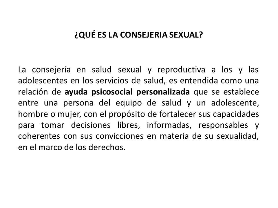 ¿QUÉ ES LA CONSEJERIA SEXUAL