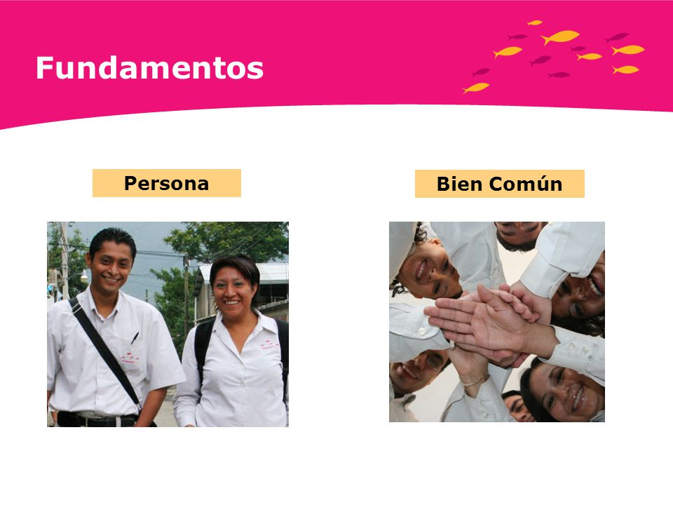 Fundamentos Persona Bien Común Fundamentals Individuals Common Good