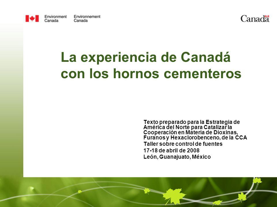 La experiencia de Canadá con los hornos cementeros
