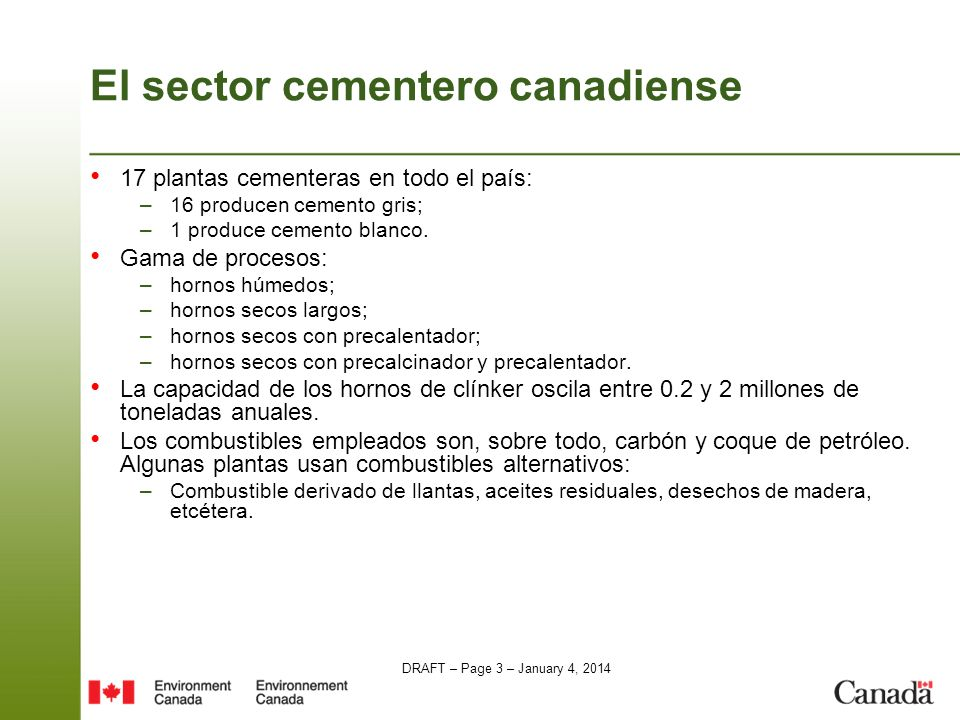 El sector cementero canadiense